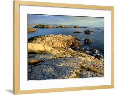 Coast at Sheigra in Evening Light, Scotland-Iain Sarjeant-Framed Photographic Print