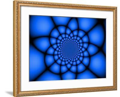 Abstract Blue Fractal Design-Albert Klein-Framed Photographic Print