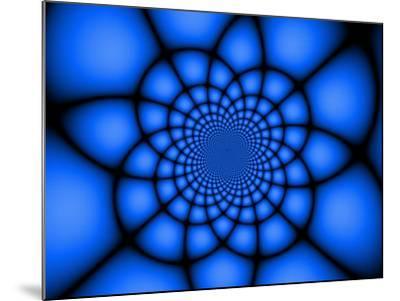 Abstract Blue Fractal Design-Albert Klein-Mounted Photographic Print