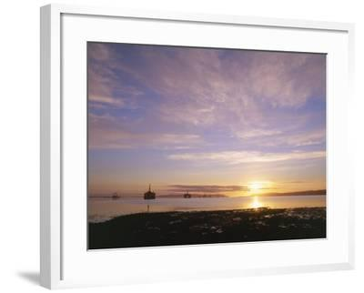 Udale Bay and Oil Rigs at Dawn, Ross-Shire-Iain Sarjeant-Framed Photographic Print
