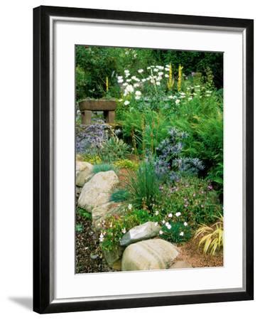 Garden Situated on a Hillside Overlooking Loch Ness, Scotland-Lynn Keddie-Framed Photographic Print