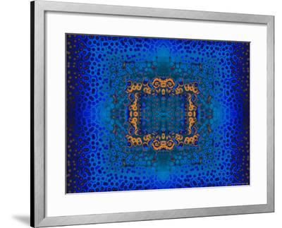 Blue and Orange Fractal Design-Albert Klein-Framed Photographic Print