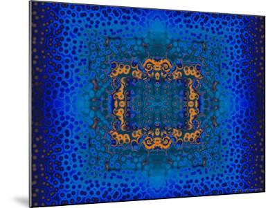Blue and Orange Fractal Design-Albert Klein-Mounted Photographic Print