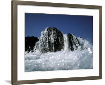 Atlantic Wave Washing Over Rock, County Cork, Ireland-Paul Kay-Framed Photographic Print