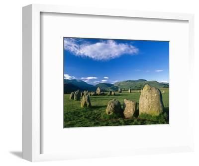 Castlerigg Stone Circle, the Lake District, UK-Ian West-Framed Photographic Print