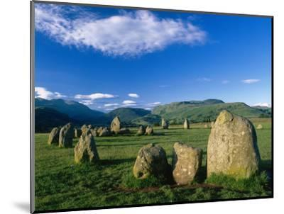 Castlerigg Stone Circle, the Lake District, UK-Ian West-Mounted Photographic Print