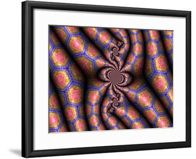 Three-Dimentional Abstract Fractal Pattern-Albert Klein-Framed Photographic Print