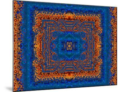Blue and Orange Morrocan Style Fractal Design-Albert Klein-Mounted Photographic Print
