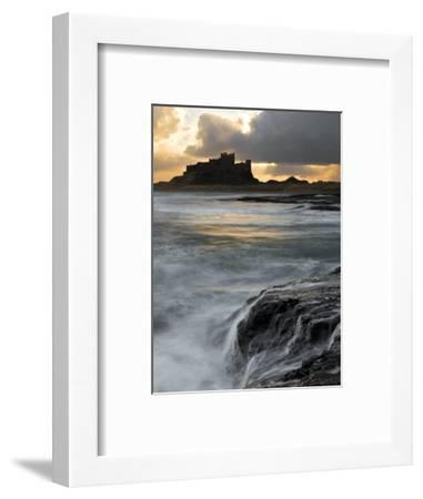 View of Bamburgh Castle at Sunset, UK-David Clapp-Framed Photographic Print