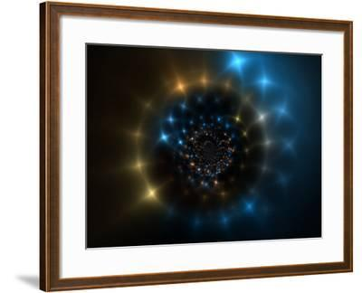 Abstract Space-Like Design-Albert Klein-Framed Photographic Print