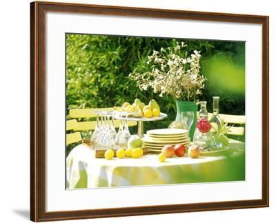 Table with Tablecloth Set-Martine Mouchy-Framed Photographic Print