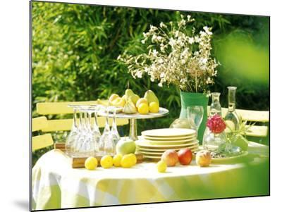 Table with Tablecloth Set-Martine Mouchy-Mounted Photographic Print