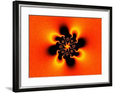 Abstract Fractal Pattern on Orange Background-Albert Klein-Framed Photographic Print