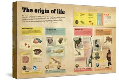 Infographic About the Different Geological Eras in the Creation and Evolution of Life on Earth--Stretched Canvas Print