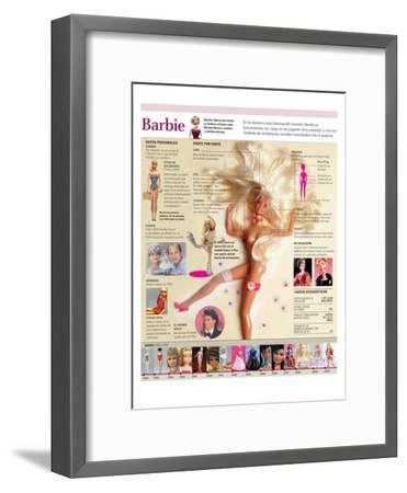Infografía De La Muñeca Barbie, Su Historia Y Evolución--Framed Poster