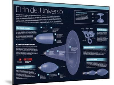 Infografía Del Fin Del Universo, Es Decir, De Cuál Es Su Futuro--Mounted Poster