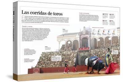 Infografía Acerca De La Tradicional Corrida De Toros, Especialmente En España--Stretched Canvas Print