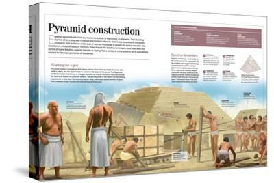Infographic About Egyptian Pyramids (2500 BC)--Stretched Canvas Print