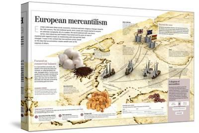 Infographic About European Mercantilism Developed from the Renaissance Based in Colonialism--Stretched Canvas Print