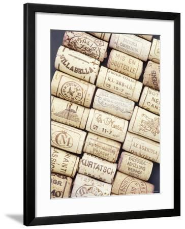 Lots of Different Wine Corks Lying Side by Side--Framed Photographic Print