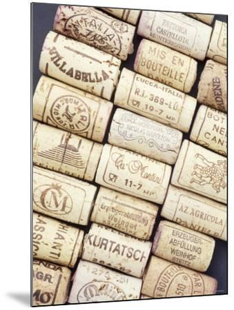 Lots of Different Wine Corks Lying Side by Side--Mounted Photographic Print