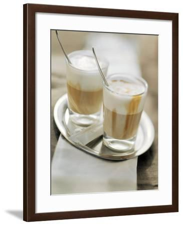 Latte Macchiato on a Tray--Framed Photographic Print