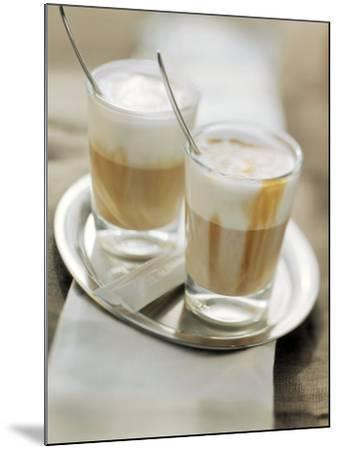 Latte Macchiato on a Tray--Mounted Photographic Print