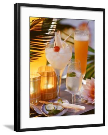 Caribbean Drinks with Rum: Ti Punch, Ti Doudou & Rum Sour--Framed Photographic Print