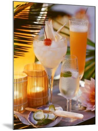Caribbean Drinks with Rum: Ti Punch, Ti Doudou & Rum Sour--Mounted Photographic Print