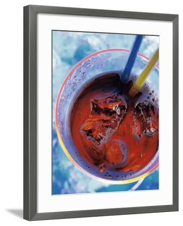 Soda in Glass with Ice-Martina Urban-Framed Photographic Print