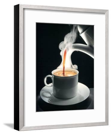 Coffee Being Poured into a Cup--Framed Photographic Print