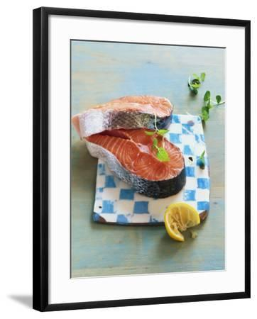 Two Salmon Cutlets-Matthias Hoffmann-Framed Photographic Print