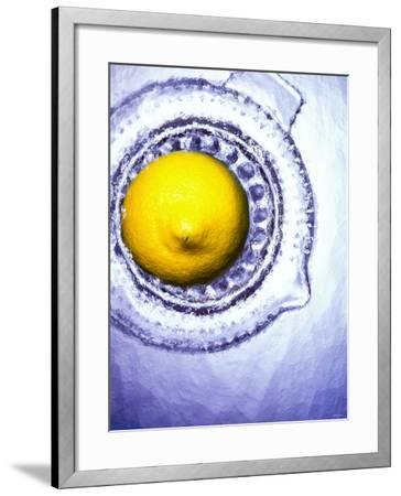 A Lemon Half on a Juicer-Wolfgang Usbeck-Framed Photographic Print