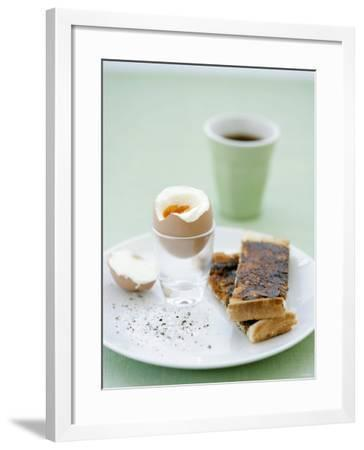 Hard-Boiled Breakfast Egg and Toast with Vegemite-Tanya Zouev-Framed Photographic Print