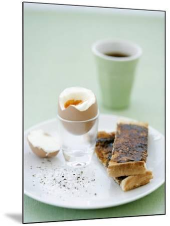 Hard-Boiled Breakfast Egg and Toast with Vegemite-Tanya Zouev-Mounted Photographic Print