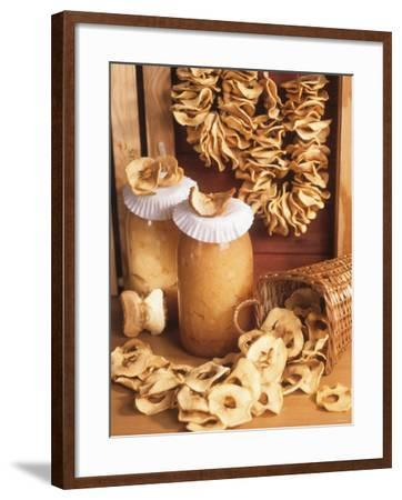Still Life with Dried Apple Rings and Apple Compote-Beata Polatynska-Framed Photographic Print