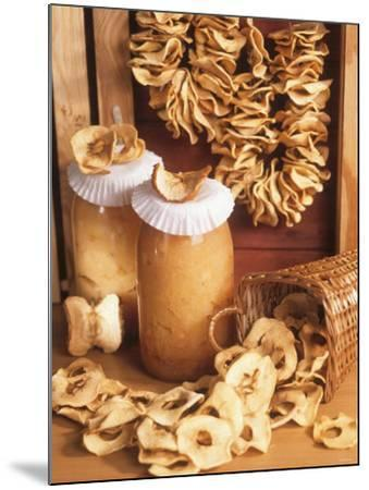 Still Life with Dried Apple Rings and Apple Compote-Beata Polatynska-Mounted Photographic Print