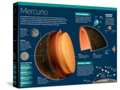 Infografía De Mercurio, El Planeta Más Cercano Al Sol--Stretched Canvas Print