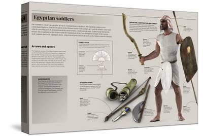 Infographic About Weapons and War Strategies That Were Used by the Professional Egyptian Army--Stretched Canvas Print