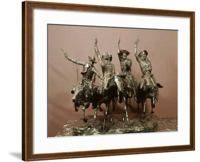 Cowboy Sculpture-Frederic Sackrider Remington-Framed Photographic Print