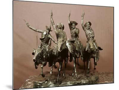 Cowboy Sculpture-Frederic Sackrider Remington-Mounted Photographic Print