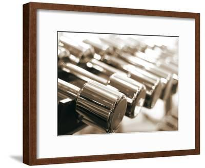 Row of Dumbbells--Framed Photographic Print