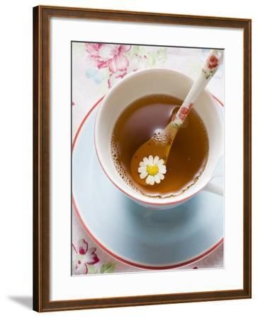 Chamomile Tea in Cup with Spoon--Framed Photographic Print