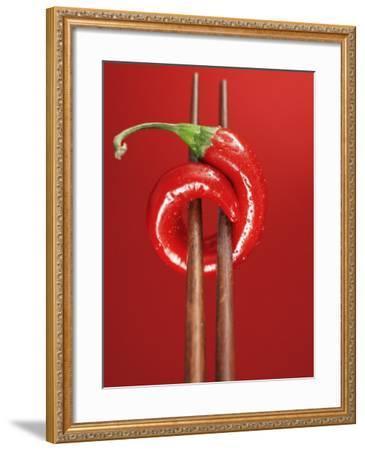 A Chili on Chopsticks-Marc O^ Finley-Framed Photographic Print