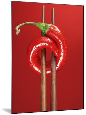 A Chili on Chopsticks-Marc O^ Finley-Mounted Photographic Print