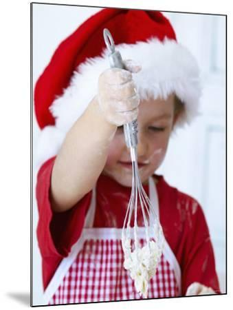Girl Mixing Dough with a Whisk-Alena Hrbkova-Mounted Photographic Print