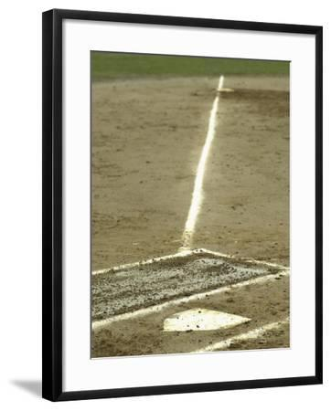Homeplate with View of Third Base--Framed Photographic Print