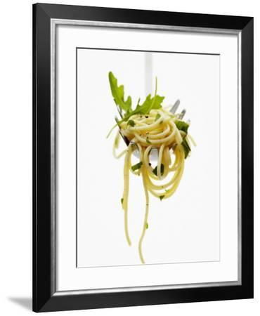 Spaghetti with Rocket on Spaghetti Server-Marc O^ Finley-Framed Photographic Print