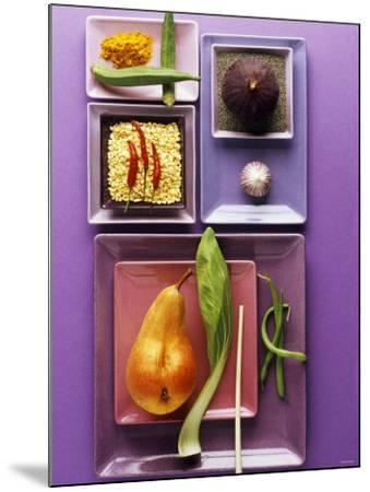 Interesting Combination of Foods on Plates-Luzia Ellert-Mounted Photographic Print