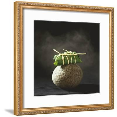 Fish Wrapped in a Leaf on a Stone-Pepe Nilsson-Framed Photographic Print